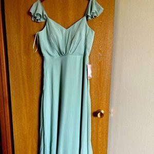 Birdy Grey Sage Bridesmaid Dress Sz L